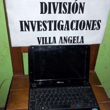 DIVISIÓN INVESTIGACIONES RECUPERA NOTEBOOK SUSTRAÍDA EL MES PASADO