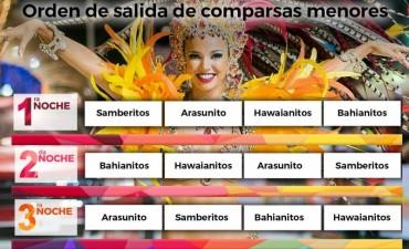 LA COMISIÓN MUNICIPAL DE CORSOS PRESENTÓ EL ORDEN DE SALIDA DE COMPARSAS INFANTILES