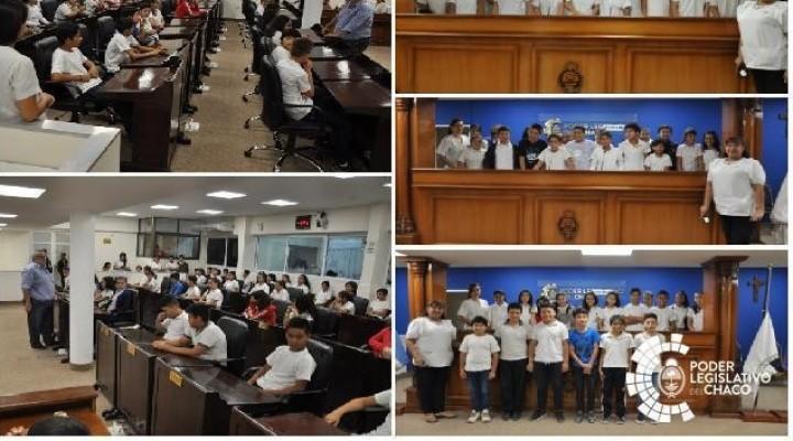 ALUMNOS DE LA ESCUELA 596 FRANCISCO NARCISO DE LAPRIDA DEL BARRIO RICARDO GÜIRALDES VISITARON EL PODER LEGISLATIVO