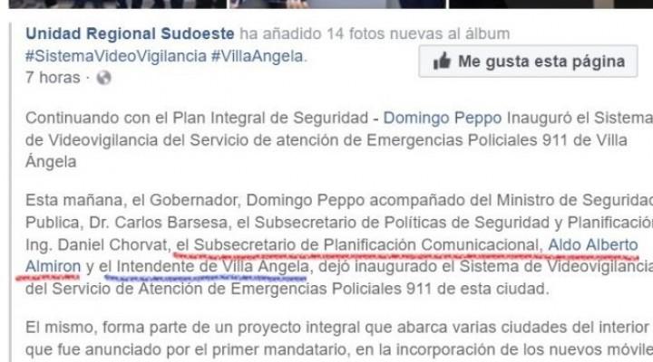 La Unidad Regional Sudoeste no sabe el nombre del intendente de Villa Ángela