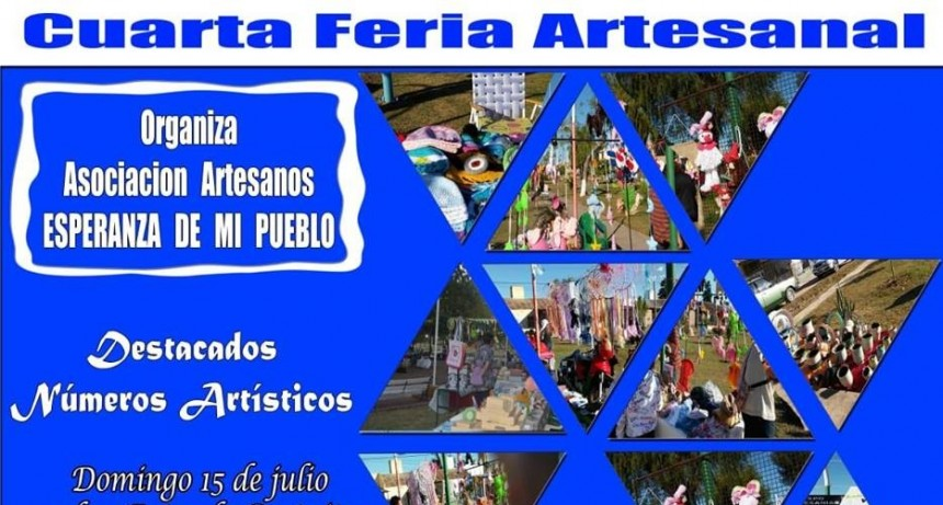 ESTE DOMINGO LA ASOCIACIÓN DE ARTESANOS SALE A LOS BARRIOS CON 4° FERIA ARTESANAL
