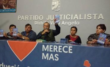 ADALBERTO PAPP ENCABEZO EL CIERRE DE CAMPAÑA DEL PARTIDO JUSTICIALISTA EN VILLA ÁNGELA