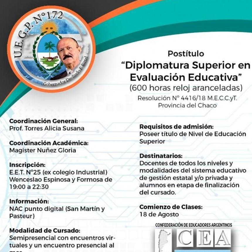LA UEGP N° 172 LANZA EN VILLA ÁNGELA LA DIPLOMATURA SUPERIOR EN EVALUACIÓN EDUCATIVA
