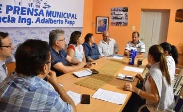 EL MUNICIPIO COORDINA TRABAJOS EN CONJUNTO CON EL INSTITUTO PROVINCIAL DE DESARROLLO URBANO Y VIVIENDA