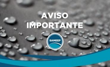 SAMEEP INFORMA BAJA PRESIÓN EN LOCALIDADES DEL INTERIOR POR TRABAJOS DE MANTENIMIENTO
