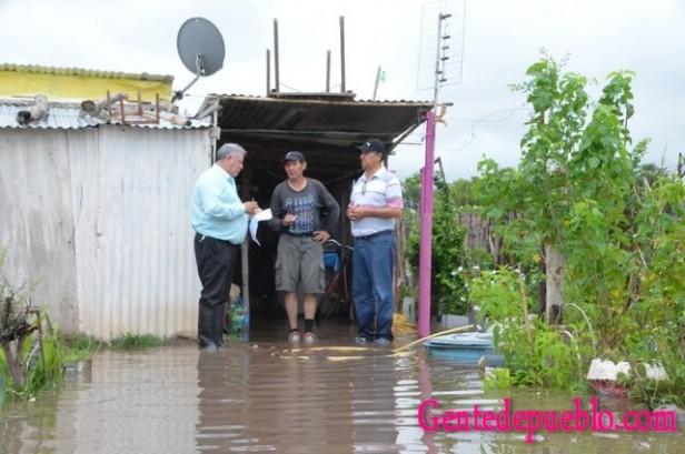 EL INTENDENTE PAPP RECORRIÓ ZONAS AFECTADAS POR EL AGUA
