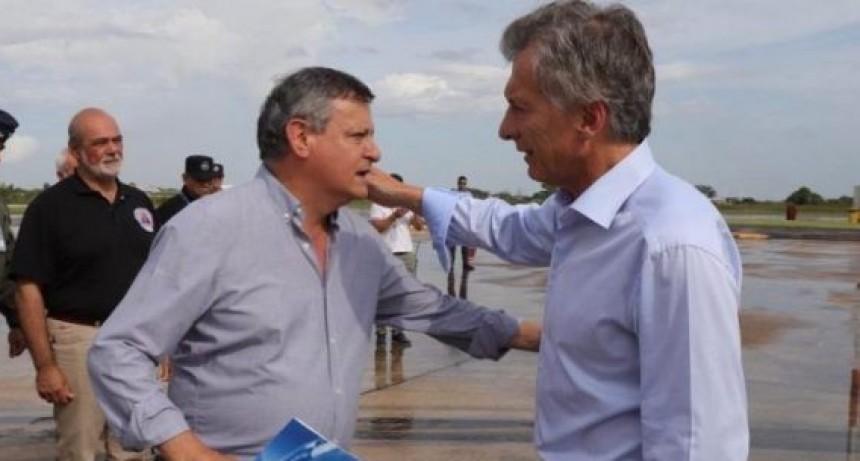 MAURICIO MACRI LLEGÓ AL CHACO PARA RECORRER LAS ZONAS AFECTADAS POR LA EMERGENCIA HÍDRICA