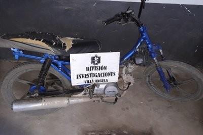 SECUESTRARON MOTOCICLETA EN TAREAS INVESTIGATIVAS