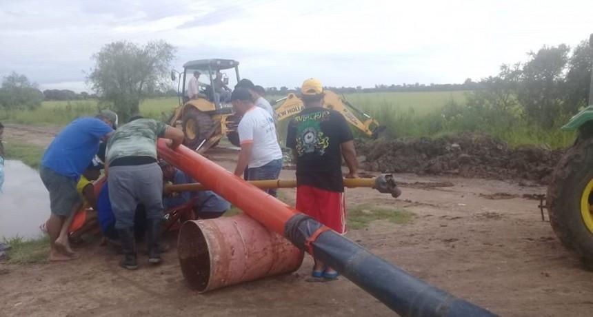 EL MUNICIPIO COLOCO TRES BOMBAS PARA SACAR EL AGUA DE LA QUINTA 10