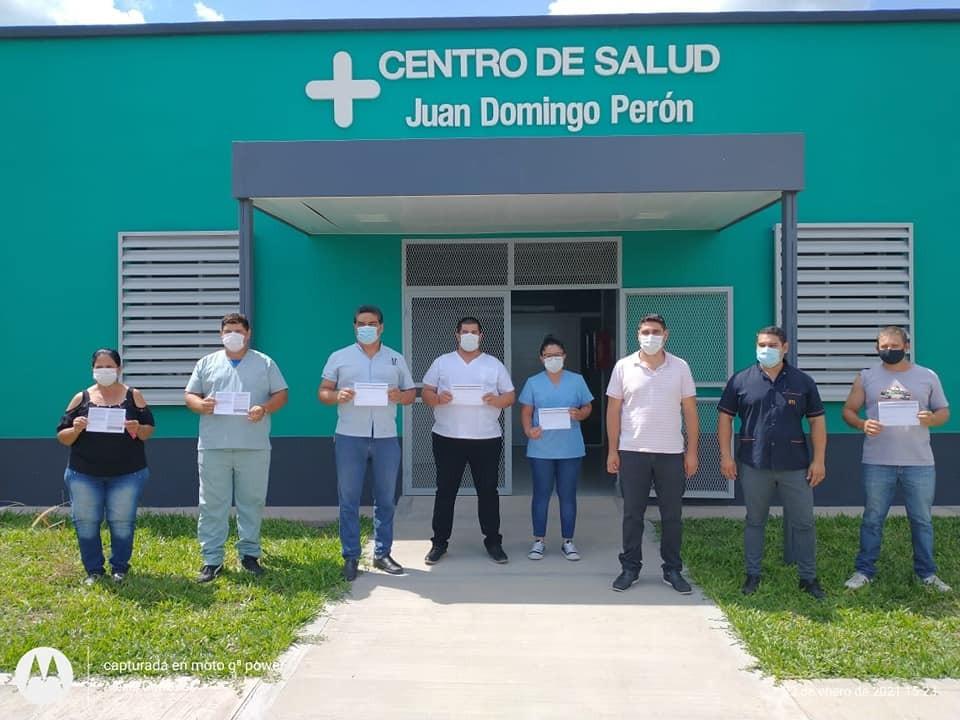 PRIMERA DOSIS DE LA VACUNA SPUTNIK, PARA EL PERSONAL DE SALUD DE URIEN