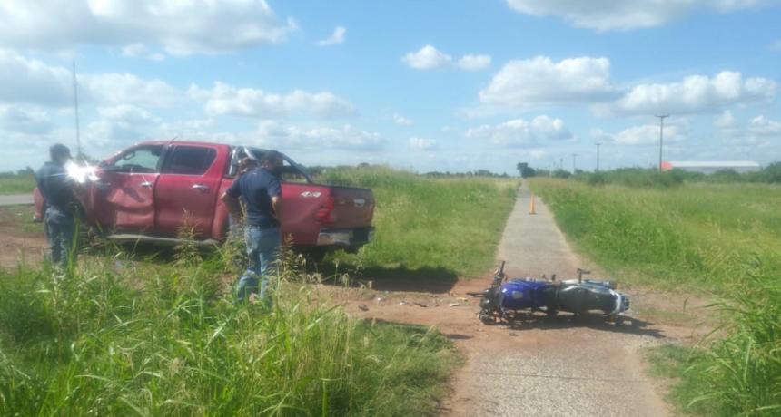 ACCIDENTE SOBRE RUTA N. 95 DEJA UN HERIDO DE GRAVEDAD