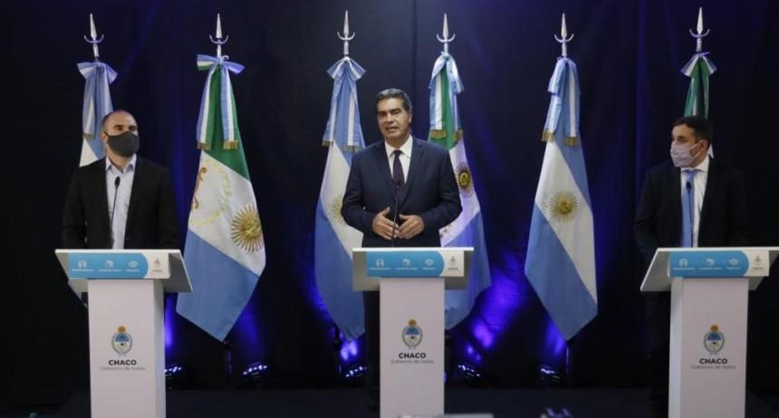 CAPITANICH TOMÓ JURAMENTO A SANTIAGO PÉREZ PONS COMO NUEVO MINISTRO DE PLANIFICACIÓN, ECONOMÍA E INFRAESTRUCTURA