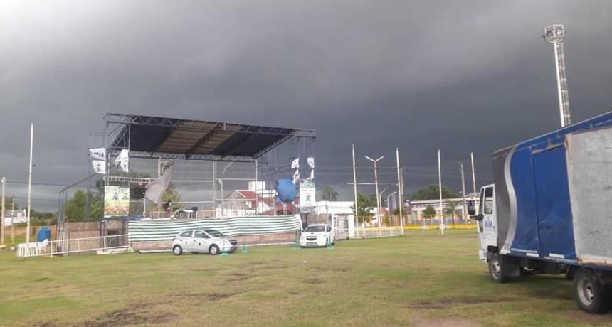 POR INCLEMENCIAS CLIMÁTICAS SE SUSPENDIÓ NUEVAMENTE EL SORTEO DEL BINGO X LOS PIBES