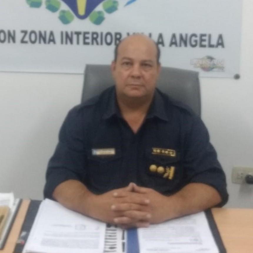 MIGUEL EDMUNDO GONZALES NUEVO JEFE DE POLICÍAS ZONA INTERIOR VILLA ANGELA