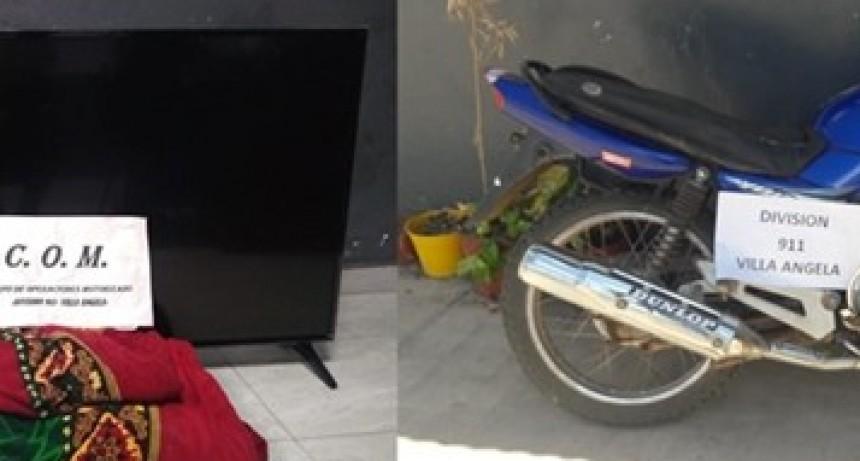 VILLA ANGELA: 911 IMPIDIÓ LA TOTALIDAD DE UN ROBO Y RECUPERÓ UNA MOTOCICLETA