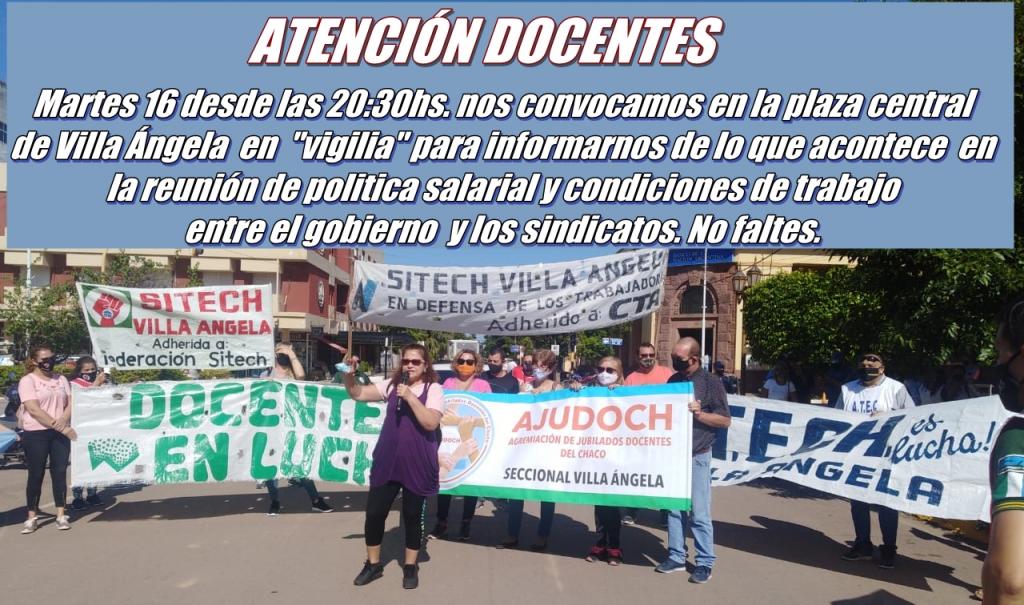 DOCENTES SE CONCENTRARÁN EN LA PLAZA CENTRAL ESTA NOCHE
