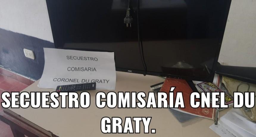 ROBO DE UN TELEVISOR EN CORONEL DU GRATY