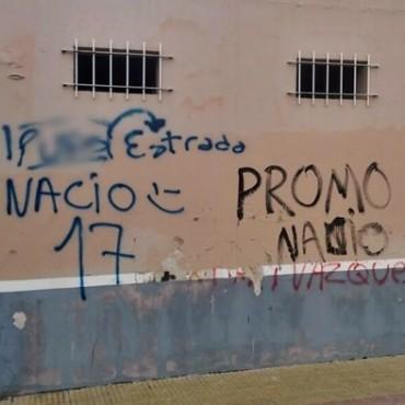 POR SEGUNDA VEZ ENSUCIAN CON AGRAVIOS EL MURO DE LA ESCUELA JOSÉ MANUEL ESTRADA