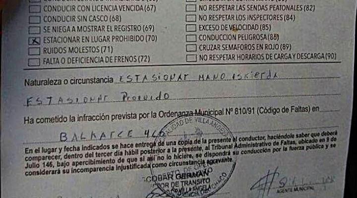 EL DOCTOR GHUIDINI SE REFIRIÓ AL ACTA DE INFRACCIÓN CON SERIOS ERRORES ORTOGRÁFICOS
