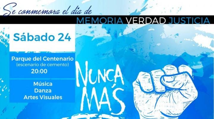 EL MUNICIPIO INVITA A PARTICIPAR DEL EVENTO CULTURAL POR EL DÍA DE LA MEMORIA, LA VERDAD Y LA JUSTICIA