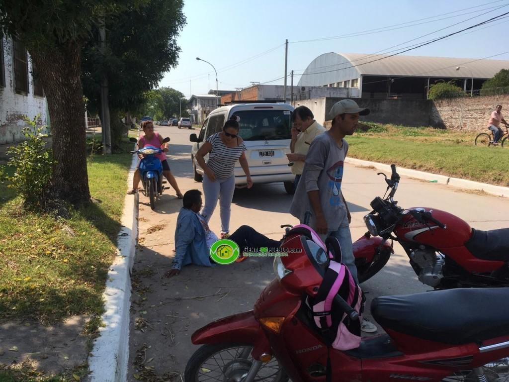 SINIESTRO VIAL EN LA ESQUINA DE 9 DE JULIO Y PELLEGRINI