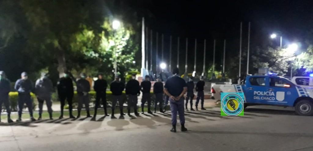 PERSONAL POLICIAL DE SAN BERNARDO CONTROLA QUE SE CUMPLA EL DECRETO PROVINCIAL EN LA LOCALIDAD