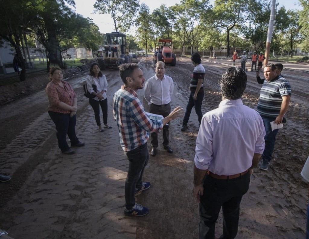 CORONAVIRUS: CAPITANICH RECORRIÓ LA OBRA DEL HOSPITAL DE EMERGENCIA EN EL PREDIO DEL PERRANDO