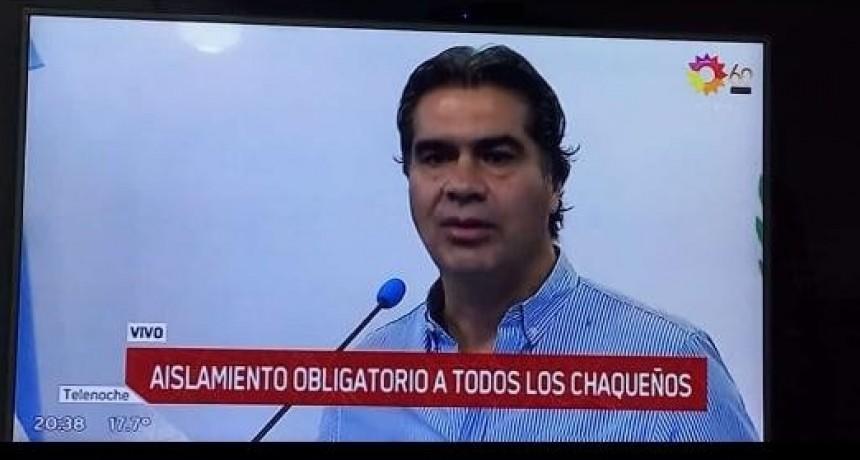 EL GOBERNADOR CAPITANICH ANUNCIO LA CUARENTENA PARA TODOS LOS CHAQUEÑOS