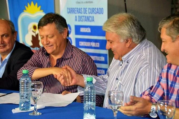 DOMINGO PEPPO Y MIGUEL SOTELO INAUGURARON LA SEDE DE LA UNCAUS EN SAN BERNARDO