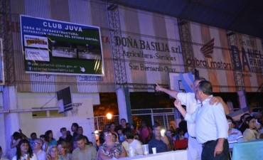 PAPP LE INDICÓ A BOFIL QUE GRACIAS A LOTERÍA CHAQUEÑA SE ESTÁ REMODELANDO EL CLUB JUVA