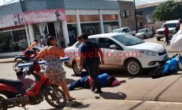 MEDIODÍA ACCIDENTE EN LA ESQUINA DE SAN LUIS Y 25 DE MAYO