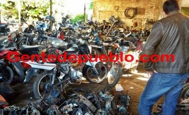 INVESTIGACIONES ALLANA UN DESARMADERO ILEGAL DE MOTOCICLETAS