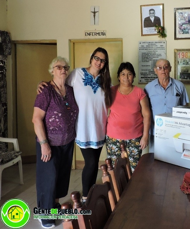 SAN BERNARDO: ENTREGAN COMPUTADORA AL CENTRO DE JUBILADOS