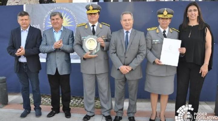 Bergia y Batalla representaron al Poder Legislativo en un nuevo aniversario del Servicio Penitenciario Provincial