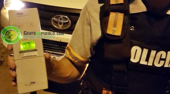 POLICÍA CAMINERA REALIZO 21 ACTAS DE INFRACCIÓN, 6 POR ALCOHOLEMIA POSITIVA