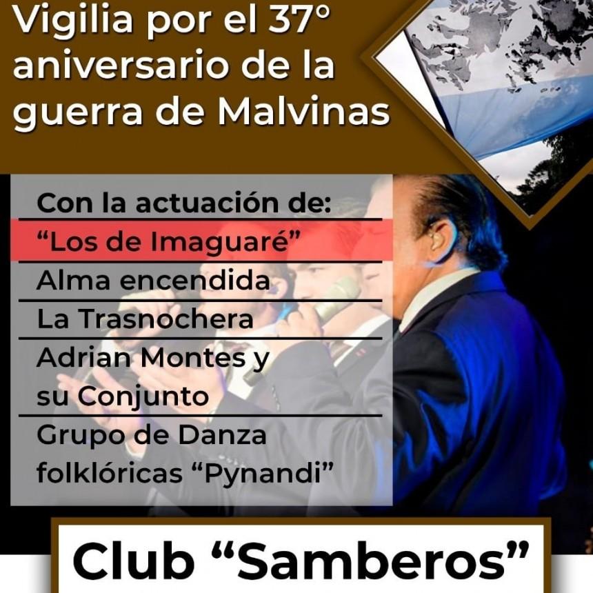 SE CAMBIA EL LUGAR DONDE SE HARÁ LA VIGILIA DE LOS HÉROES DE MALVINAS