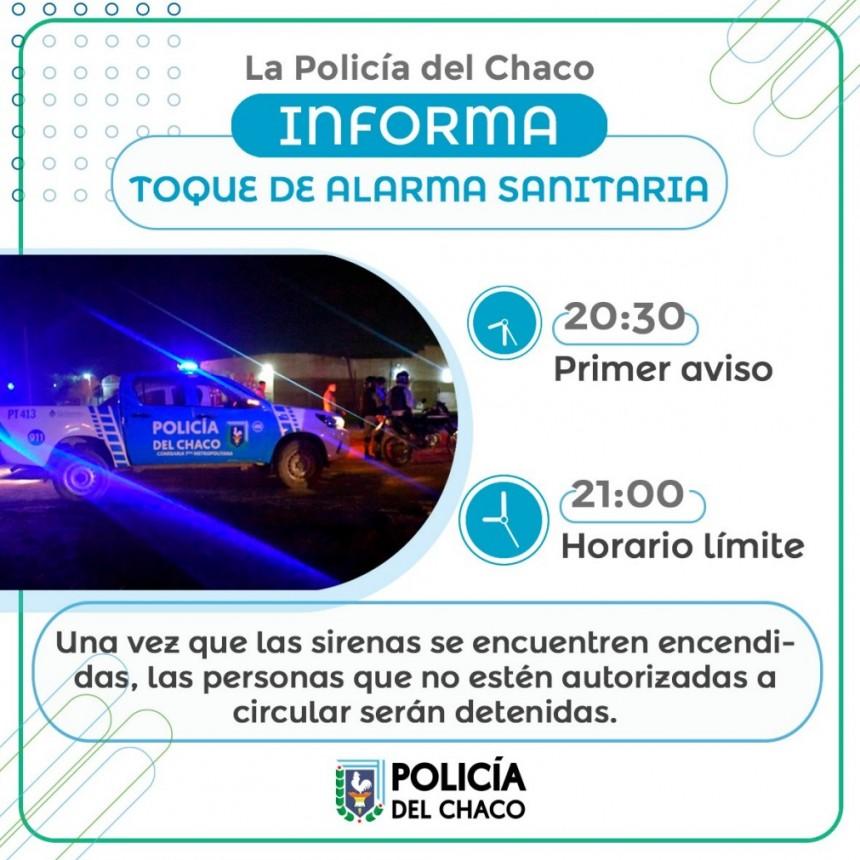 EL PERSONAL POLICIAL INFORMO SOBRE EL TOQUE DE ALARMA SANITARIA