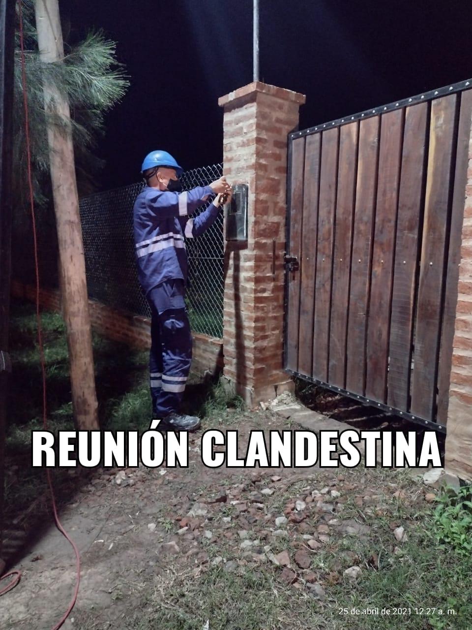 SAN BERNARDO: OPERATIVO POLICIAL DESARTICULA REUNIÓN  CLANDESTINA