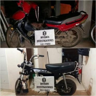INVESTIGACIONES RECUPERÓ DOS MOTOCICLETAS