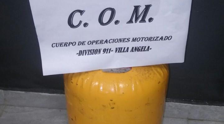 POLICÍAS DEL CUERPO DE OPERACIONES MOTORIZADOS FRUSTRARON EL ROBO DE UNA GARRAFA