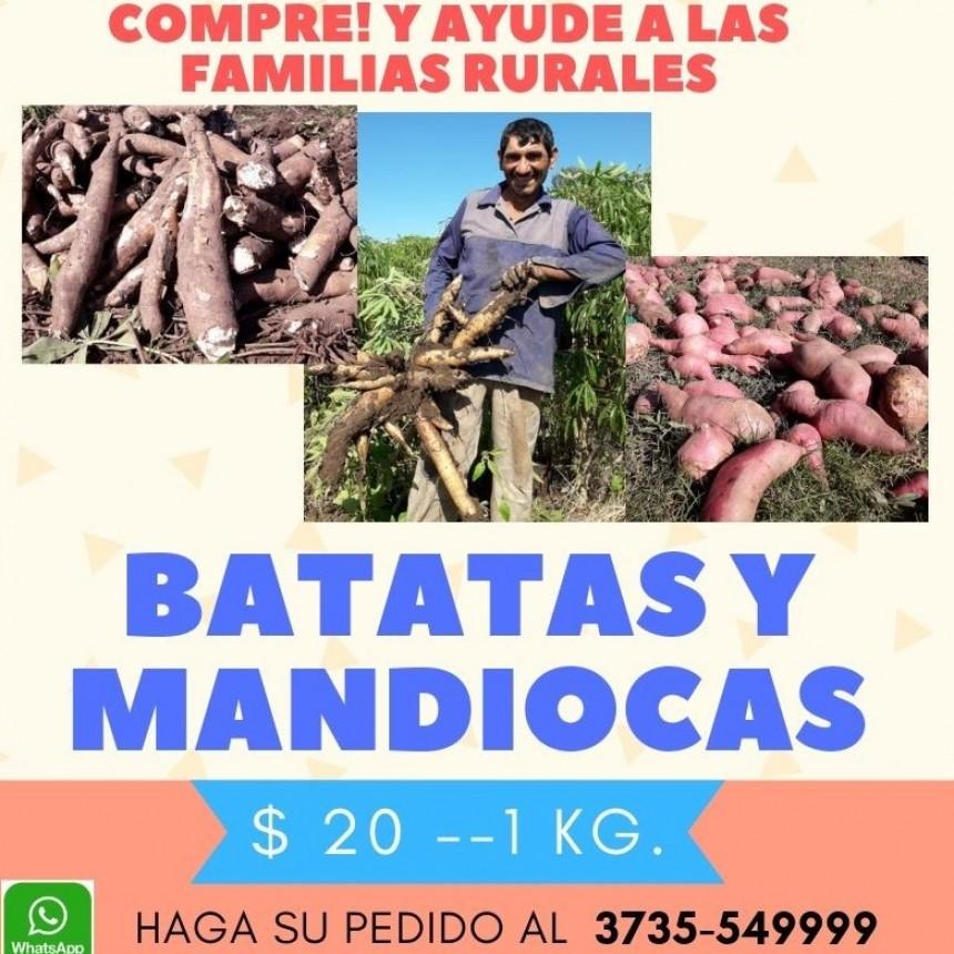 DESDE EL INTA VILLA ANGELA FOMENTAN LA VENTA  DE BATATAS Y MANDIOCAS PARA AYUDAR A PRODUCTORES AFECTADOS POR LA INUNDACIÓN
