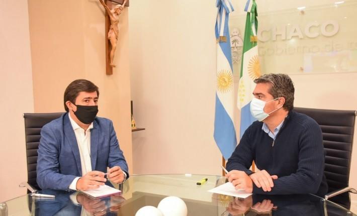 CAPITANICH RECIBIÓ A GUSTAVO MARTÍNEZ Y DEFINIERON PLAN DE OBRAS PRIORITARIAS PARA RESISTENCIA