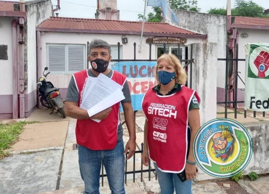 MANIFESTACIÓN DOCENTE EN REGIONAL EDUCATIVA POR DESCUENTOS DE SUELDOS
