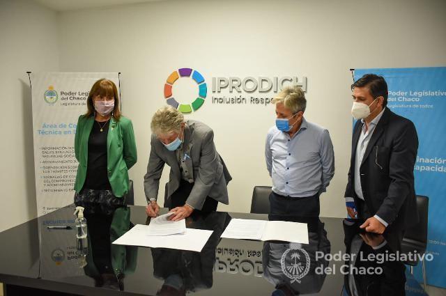 La Legislatura y el IPRODICH conforman Comisión Integradora para estudiar y elaborar proyectos sobre discapacidad