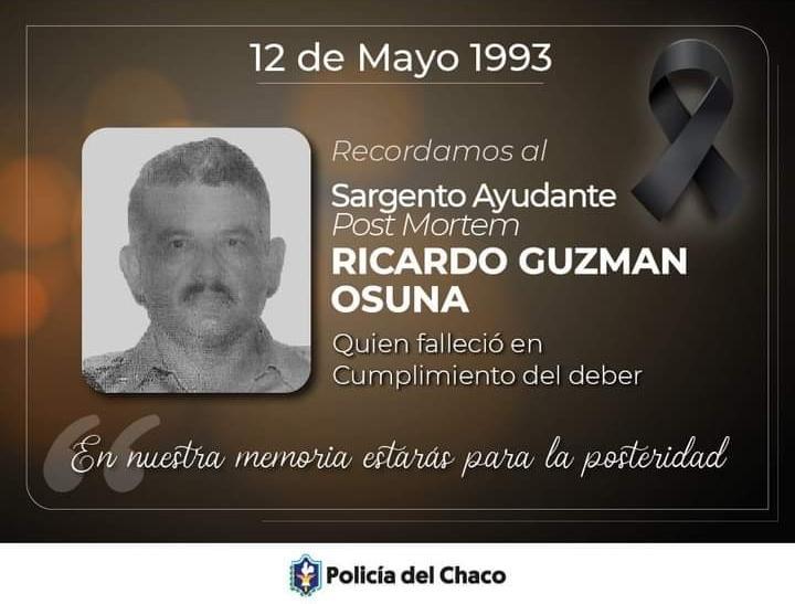 HOY SE CUMPLEN 28 AÑOS DE LA MUERTE DEL SARGENTO 1° GUZMAN OSUNA EN EL ASALTO AL BANCO MERCANTIL