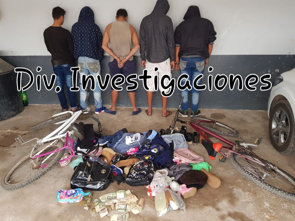 INVESTIGACIONES DESBARATA UNA BANDITA DE MENORES LADRONES