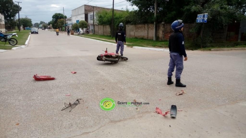 SINIESTRO VIAL EN LA ESQUINA DE PELLEGRINI Y URUGUAY