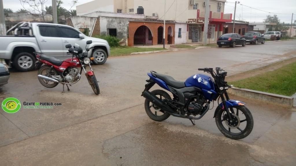 SINIESTRO VIAL ENTRE DOS MOTOCICLETAS