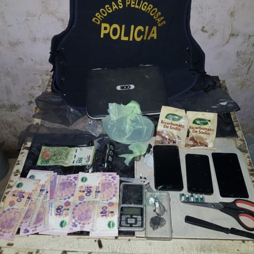VILLA ANGELA: DESBARATAN CENTRO DE VENTAS DE DROGAS