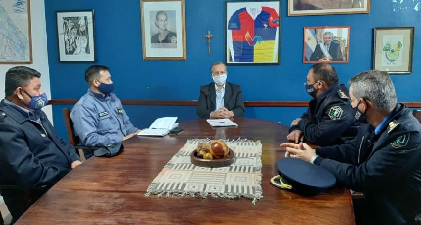 EL INTENDENTE PAPP RECIBIÓ AL DIRECTOR GENERAL DE SEGURIDAD INTERIOR DE LA POLICIA